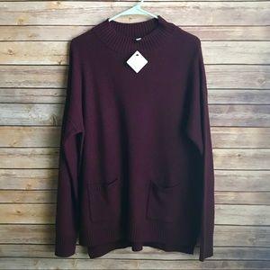 Halogen Plum Sweater Pullover sz XL.  NWT